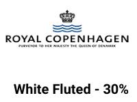 Royal copenhagen hvit riflet kampanje mobil