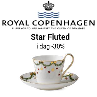 Royal Copenhagen star fluted Black Friday kampanje